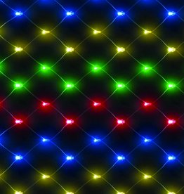 Snowtime Chasing Net Lights Multi Coloured