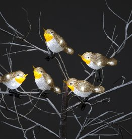Snowtime Acrylic 5 Robin Lights
