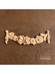 WoodUBend No. 1047  Draped floral scroll 13 x 4.1cm