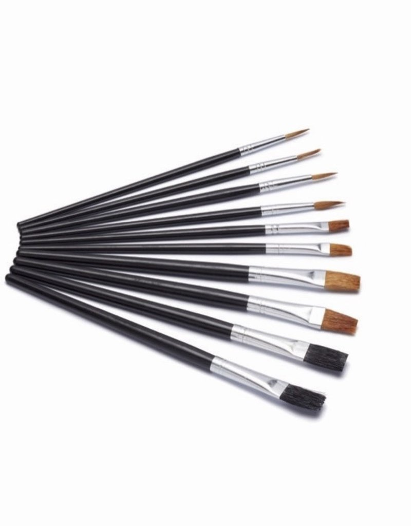Harris Artist Paint Brushes - Flat brush set Pack 10 - Seriously Good
