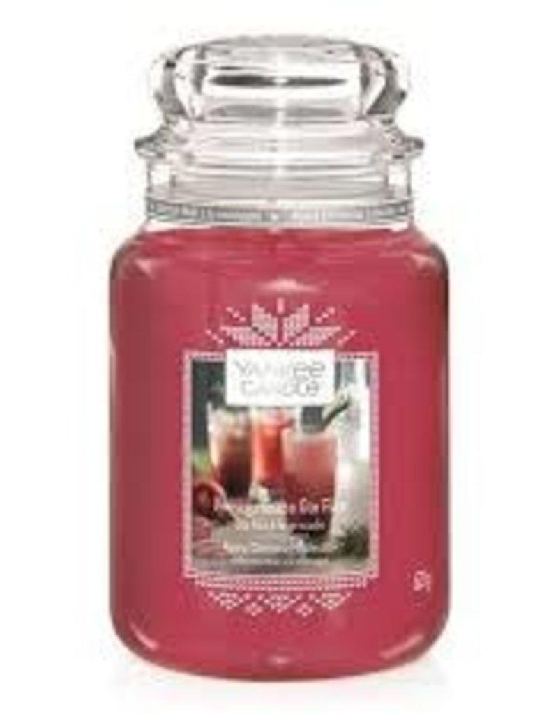 Yankee Pomegranate Gin Fizz Large Jar Candle
