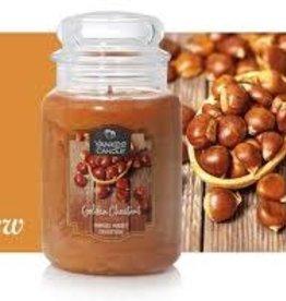 Yankee Golden Chestnut Large Jar Candle