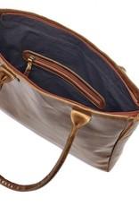 Leather Shoulder Shopping Bag