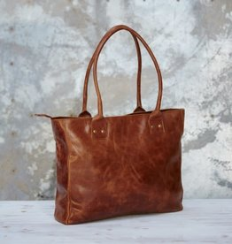 Leather Shoulder Shopping Bag