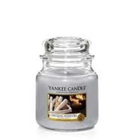 Yankee Crackling Wood Fire Medium Jar Candle