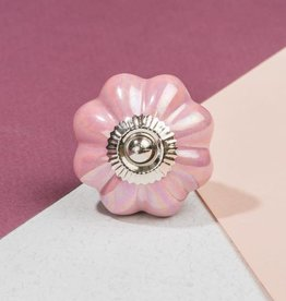 Ian Snow Pink Flower Knob