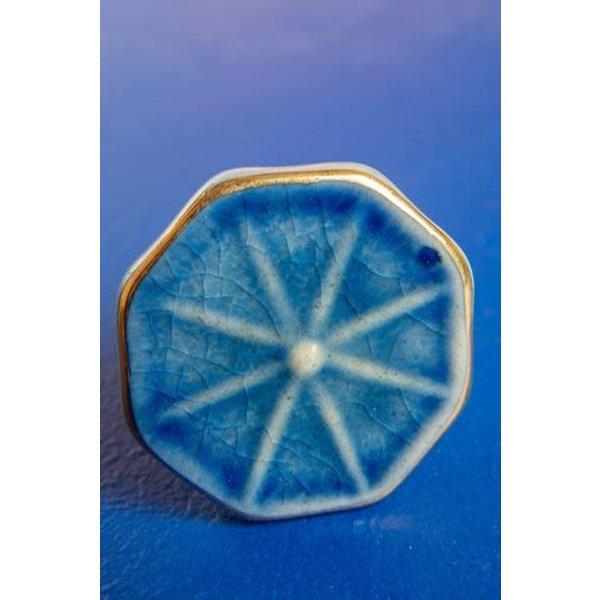 Ian Snow Blue Octagonal Knob
