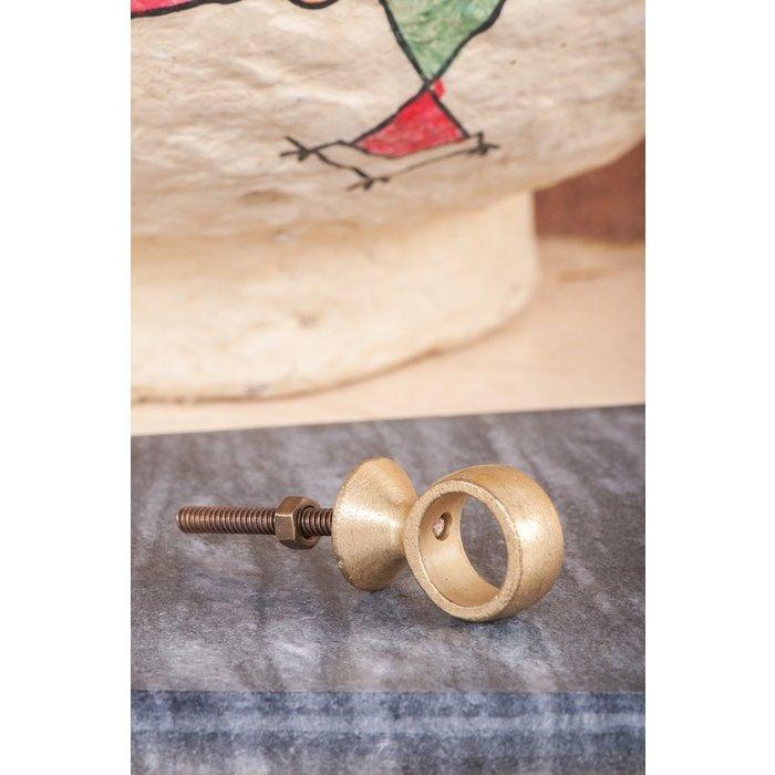 Ian Snow Brass Plated Iron Ring Knob