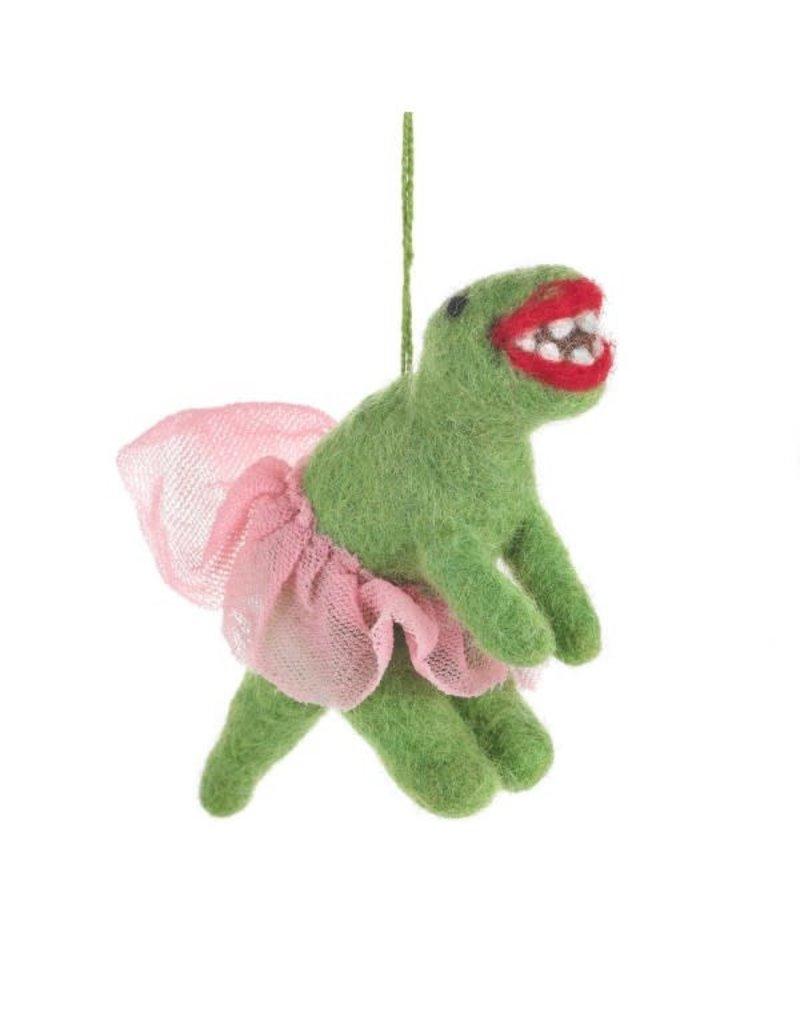 Felt So Good Felt Ballerina Dinosaur