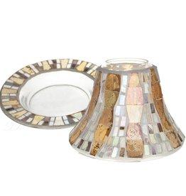 Yankee Mosaic Shade & tray set for Yankee Candles