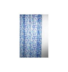 Blue Canyon Shower Curtain Peva 180x180cm Mosaic Blue