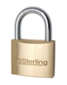 Sterling 30mm Brass Padlock pack of 2 padlocks which are keyed alike