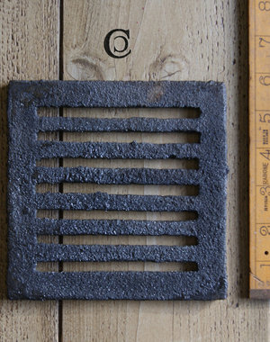 Cottingham Collection Drain Cover / Wall Vent Square Cast Iron 'Lined' 6″