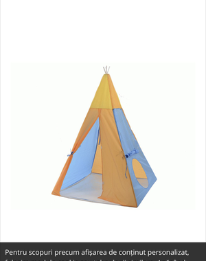 Teepee, play tent/shelter