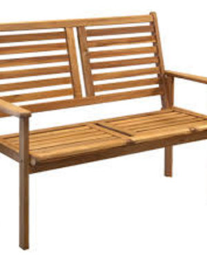 Napoli Bench - 2 seater bench in Acacia Hardwood.