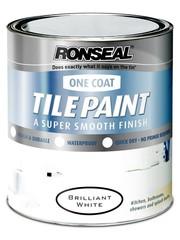 Ronseal White satin one coat tile paint 750ml