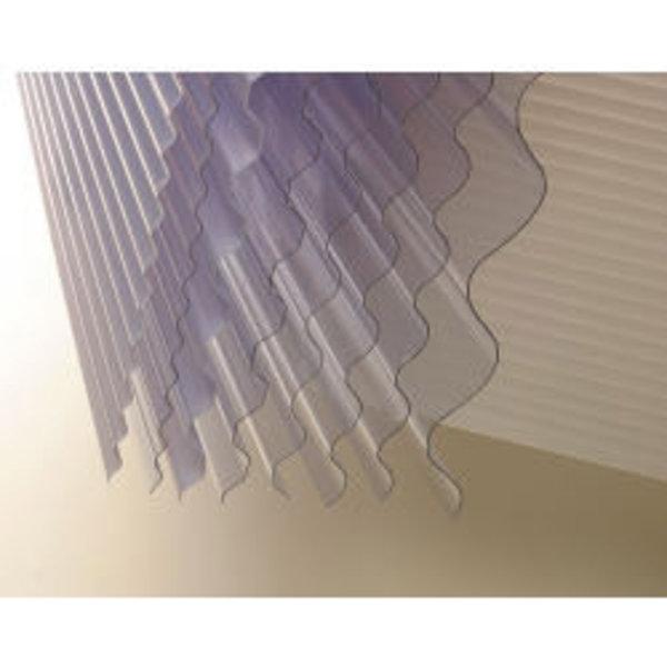 """Vistalux Lightweight Clear Corrugated PVC 3"""" x 30"""" x 8ft (2440mm)"""