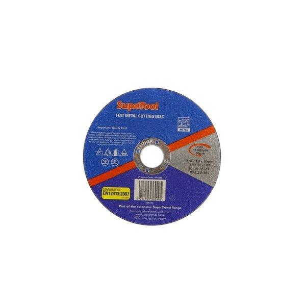SupaTool Flat Metal Cutting Disc 100mmx2.5mm
