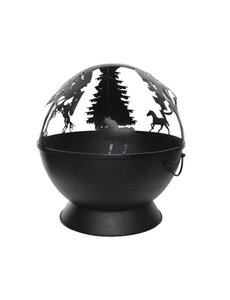 Iron fire pit with animal cut out