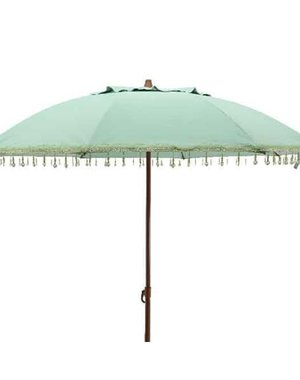 Parasol with beads - green