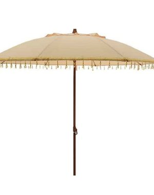 Parasol with beads - cream/yellow