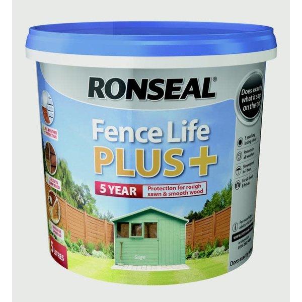 Ronseal Ronseal Fence Life Plus 5L Sage