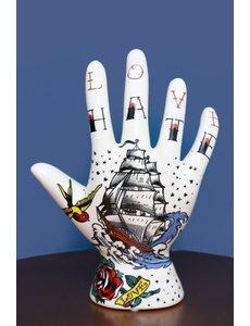 Tattoo hand ship