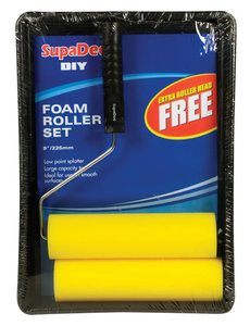 """Foam Roller & Tray Set 9"""""""