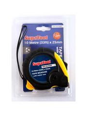 SupaTool Tape Measure 10m Rubberised