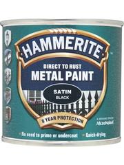 Hammerite (Akzo Nobel) Hammerite Black 250ml Satin