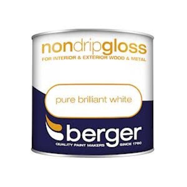 Berger Non Drip Gloss 250ml Pure Brilliant White