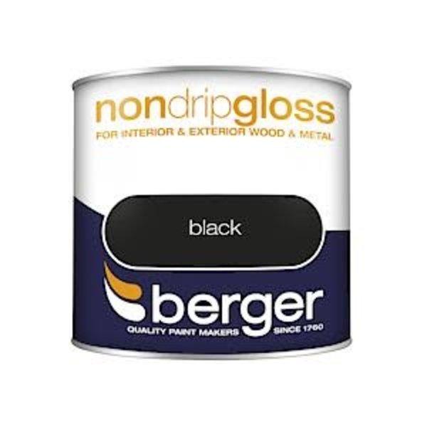 Berger Non Drip Gloss 250ml Black