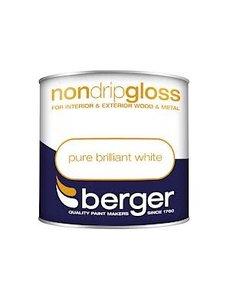 Berger Non Drip Gloss 1.25L Pure Brilliant White
