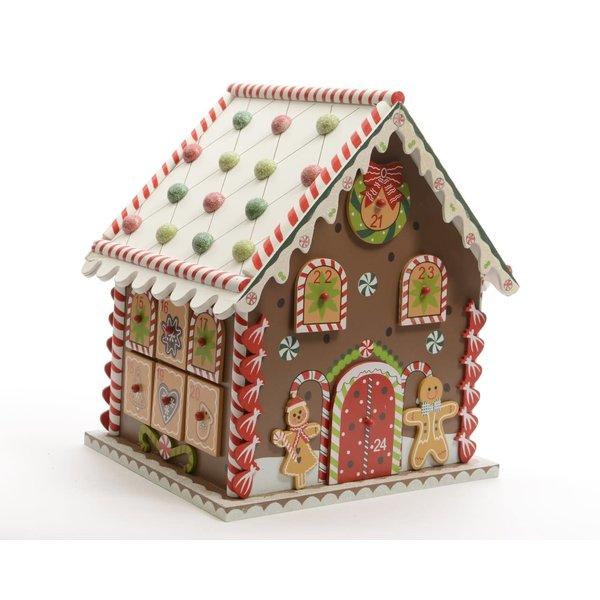 Kaemingk Christmas 20 Wooden Gingerbread Cookie House Advent
