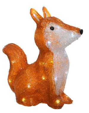 Kaemingk Christmas 20 Acrylic Fox -  LED brown acrylic fox outdoor