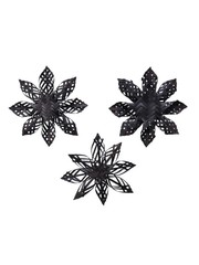 Kaemingk Christmas 20 Bamboo Woven Star Black 14 x 3cm - choice of  3 styles