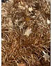 Tinsel Star garland Shiny 4ply 100mm x 2.7m - almond