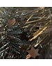 Tinsel Star garland Shiny  4ply 100mm x 2.7m - black