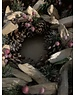 Kaemingk Pine Cone Glitter Wreath with Berries approx 34cm