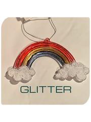 Premier Rainbow and Cloud Decoration Glitter or Pastel 12 cm