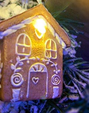 Kaemingk Gingerbread House Lights String 1.3m/4.3ft