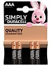 Duracell Simply AAA Batteries (4 Pack)