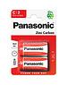 Panasonic Zinc Carbon C Batteries (2 Pack)