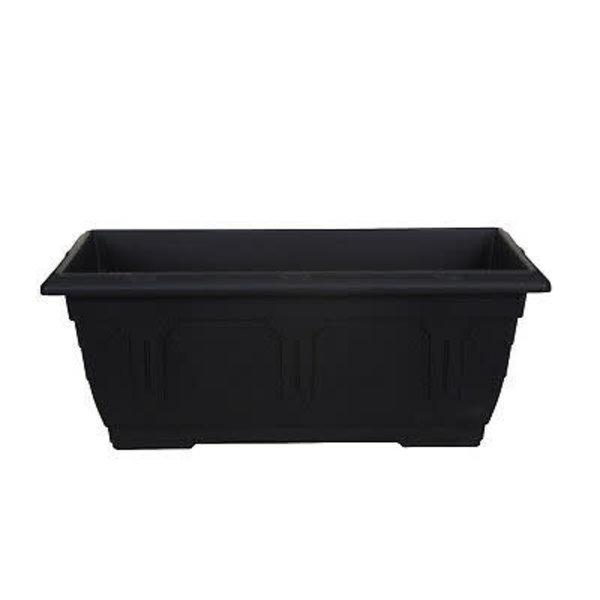 WhiteFurze Venetian Window Box Trough 40cm Black