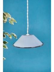 Ian Snow Blue emamel lamp shade - denim shade