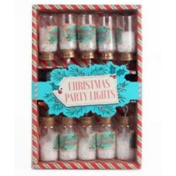 Mini Jar Lights set of 10 LED Christmas Party Lights on string
