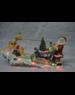 Kaemingk Santa With Reindeer & Sleigh village