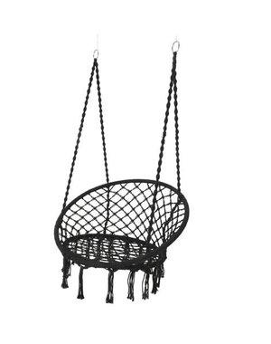 Decoris Black macrame Hanging Hammock Chair