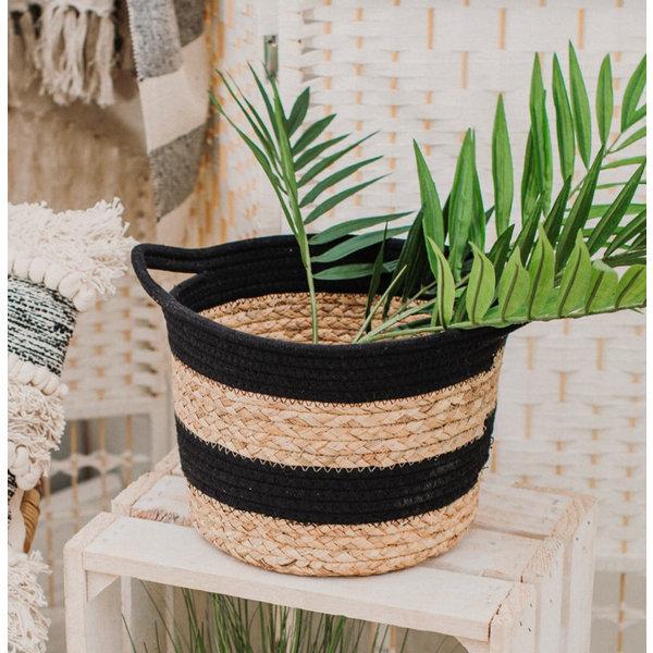 Sass & Belle Black And Grass Stripe Basket