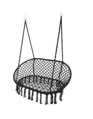 Decoris Hanging Hammock Chair Black 2 Seater